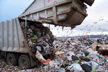 waste, muda, garbage, garbage truck, land fill