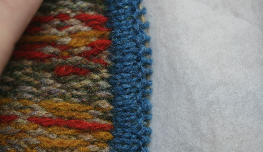 Knit 2 Stitches Together Through Back Loop : steeks 3: the sandwich   Kate Davies Designs