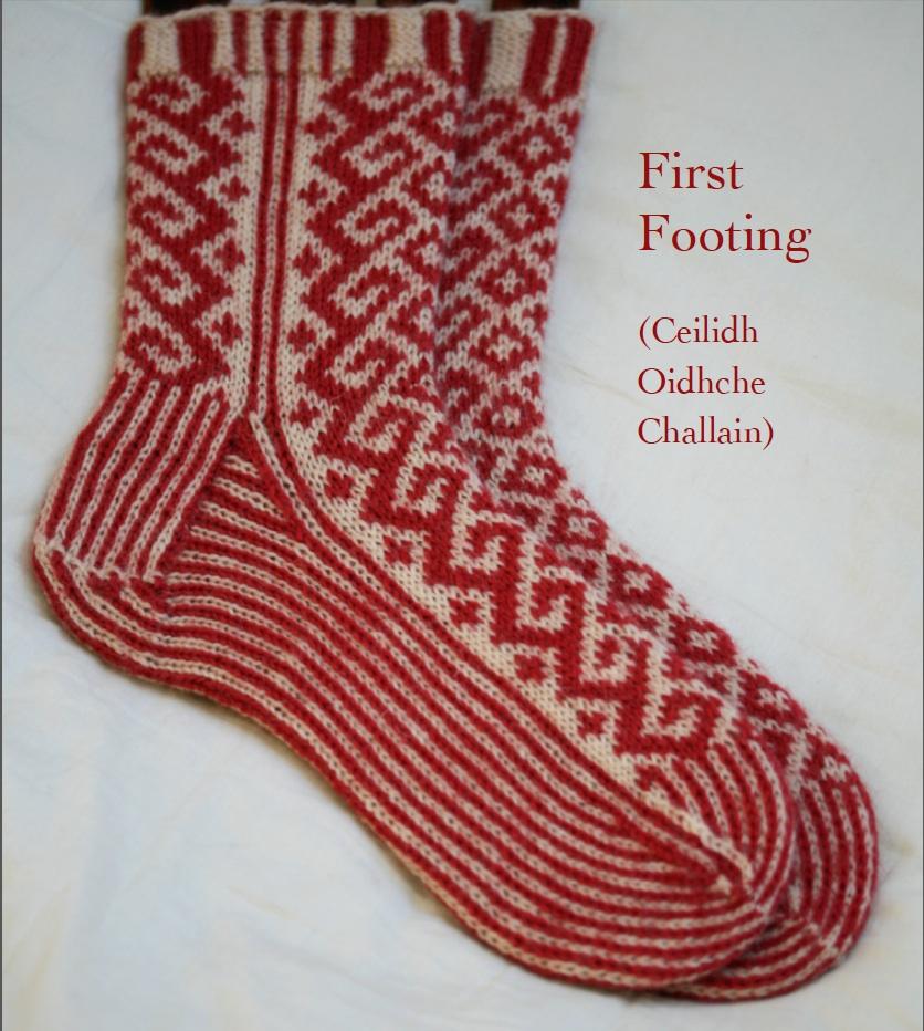 Knitting Socks Design : First footing kate davies designs