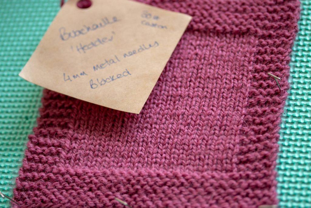 Pink Heather (Hedder) hand knit Scottish wool yarn